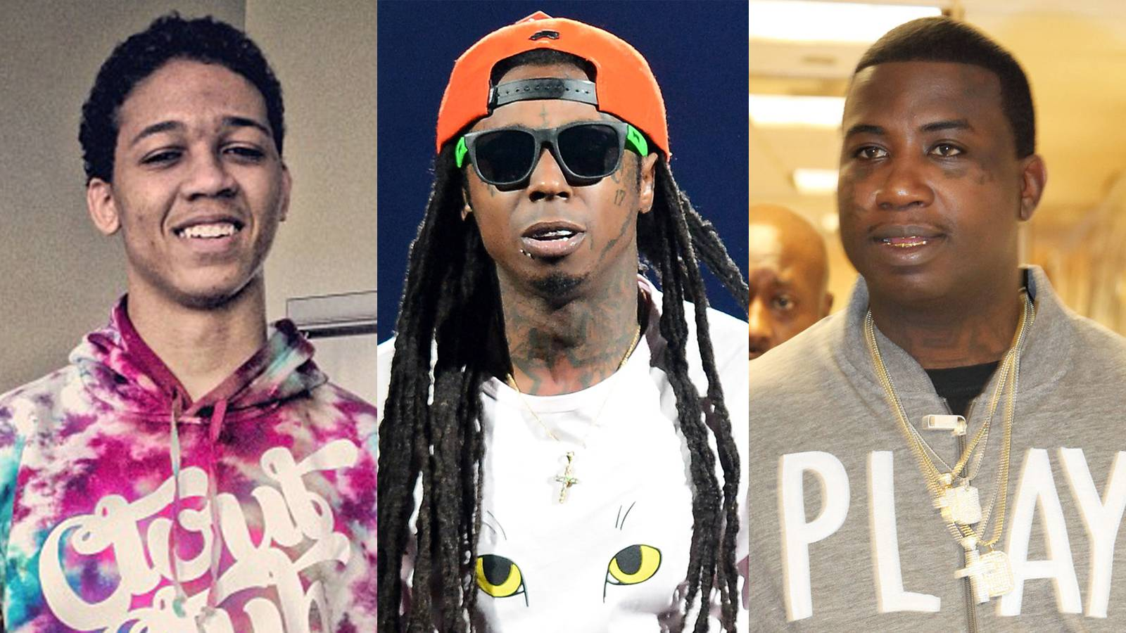 """Inspired by Lil Wayne and Gucci Mane - When Bibby was coming up in the Chi, he was listening to Southern artistsLil Wayne and Gucci Mane.""""I remember people use to always argue about who was best between the two,"""" he told XXL.(Photos: Lil Bibby via Instagram; Ethan Miller/Getty Images; Johnny Nunez/WireImage/Getty Images)"""